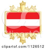 Clipart Of An Austrian Flag With A Golden Stars Frame Royalty Free Vector Illustration by Andrei Marincas