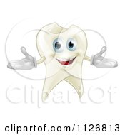 Clipart Of A Happy Tooth Mascot Royalty Free Vector Illustration