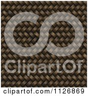 Clipart Of A Seamless 3d Twill Wicker Basket Weave Texture Background Pattern Royalty Free CGI Illustration