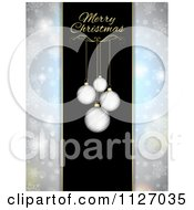 Clipart Of A Christmas Menu Cover With Ornaments And Text And Snowflake Sides Royalty Free Vector Illustration