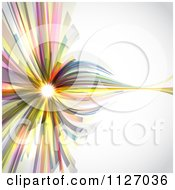 Clipart Of An Abstract Colorful Background With Light Royalty Free Vector Illustration
