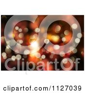 Clipart Of A Bokeh Christmas Background Of Sparkles Royalty Free CGI Illustration