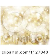 Clipart Of A Bokeh Christmas Background Of Golden Sparkles Royalty Free CGI Illustration