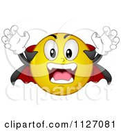Cartoon Of A Halloween Vampire Emoticon Royalty Free Vector Clipart by BNP Design Studio