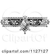 Clipart Of A Retro Vintage Black And White Floral Bird And Vine Border Royalty Free Vector Illustration by Prawny Vintage