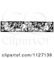 Clipart Of A Retro Vintage Black And White Baby Border Royalty Free Vector Illustration