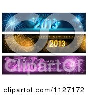 Clipart Of Firework Happy New Year 2013 Website Banners Royalty Free Vector Illustration by dero
