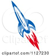 Clipart Of A Rocket Shuttle 8 Royalty Free Vector Illustration by Vector Tradition SM