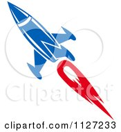 Clipart Of A Rocket Shuttle 7 Royalty Free Vector Illustration