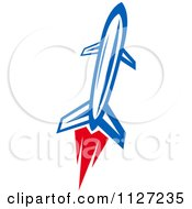 Clipart Of A Rocket Shuttle 4 Royalty Free Vector Illustration