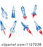 Clipart Of Rocket Shuttles Royalty Free Vector Illustration