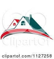 Clipart Of Houses With Roof Tops 4 Royalty Free Vector Illustration