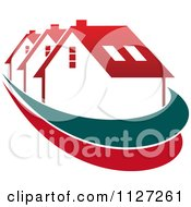 Clipart Of Houses With Roof Tops 2 Royalty Free Vector Illustration by Vector Tradition SM