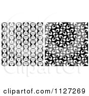 Clipart Of Seamless Black And White Background Patterns Royalty Free Vector Illustration