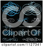 Blue Swirl Design Elements And Rules On Black