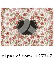 Clipart Of A Retro Floral Invitation Frame Background 1 Royalty Free Vector Illustration