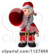 Clipart Of A 3d Santa Announcing 1 Royalty Free CGI Illustration