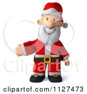 Clipart Of A 3d Santa Presenting Royalty Free CGI Illustration