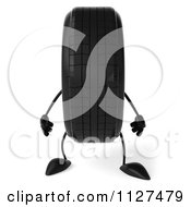 Clipart Of A 3d Wheel Mascot Royalty Free CGI Illustration by Julos