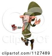 3d Happy Leprechaun With Beer 3