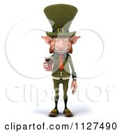 Clipart Of A 3d Happy Leprechaun With Beer 1 Royalty Free CGI Illustration by Julos