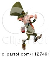 Clipart Of A 3d Happy Leprechaun With Beer 2 Royalty Free CGI Illustration by Julos