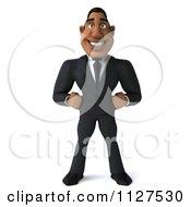 3d Handsome Black Businessman