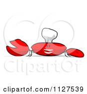 Clipart Of A Cartoon Happy Chef Crab 9 Royalty Free CGI Illustration