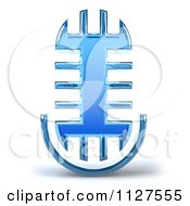 Clipart Of A 3d Microphone Glass Design Royalty Free CGI Illustration