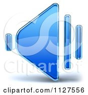 Clipart Of A 3d Glass Speaker Icon Royalty Free CGI Illustration by Julos