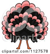 Cartoon Of A Thanksgiving Turkey Bird Butt Royalty Free Vector Clipart by BNP Design Studio