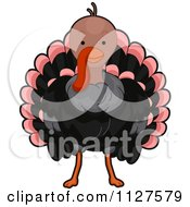 Cartoon Of A Cute Thanksgiving Turkey Bird Royalty Free Vector Clipart