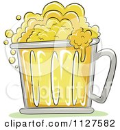 Cartoon Of A Frothy Oktoberfest Mug Of Beer Royalty Free Vector Clipart