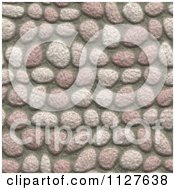 Clipart Of A Seamless Pink Paver Stone Rock Texture Background Pattern Royalty Free CGI Illustration