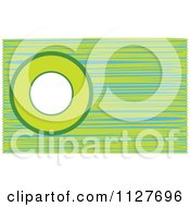 Clipart Of A Green And Blue Circle And Line Background Royalty Free Vector Illustration by YUHAIZAN YUNUS
