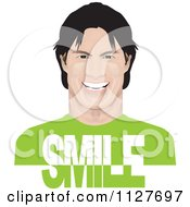 Happy Man With Smile Text