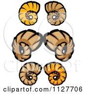 Cartoon Of Ram Horn Sets Royalty Free Vector Clipart