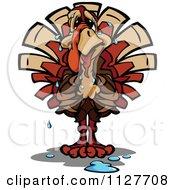 Worried Thanksgiving Turkey Bird Sweating