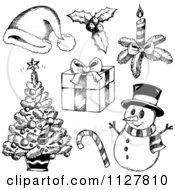 Sketched Black And White Christmas Items