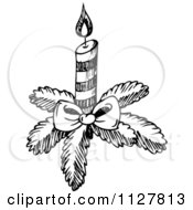 Sketched Black And White Christmas Candle