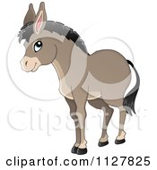 Cartoon Of A Cute Donkey Royalty Free Vector Clipart by visekart
