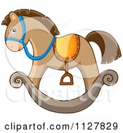 Cartoon Of A Toy Rocking Horse Royalty Free Vector Clipart by visekart