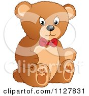 Cartoon Of A Toy Teddy Bear Royalty Free Vector Clipart by visekart