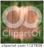 Clipart Of Fir Christmas Tree Branches Framing Wood Royalty Free Vector Illustration