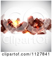 Clipart Of Abstract Glowing Shapes Over Dots On Gray Royalty Free Vector Illustration