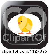 Clipart Of A Chick And Egg Icon Royalty Free Vector Illustration by Lal Perera
