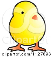 Clipart Of A Yellow Chick Royalty Free Vector Illustration by Lal Perera