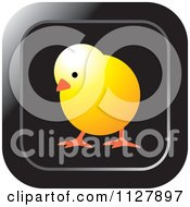 Clipart Of A Yellow Chick Icon Royalty Free Vector Illustration by Lal Perera