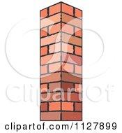 Clipart Of A Brick Pillar Royalty Free Vector Illustration by Lal Perera