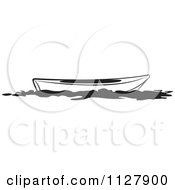 Clipart Of A Black And White Kayak Royalty Free Vector Illustration by Lal Perera
